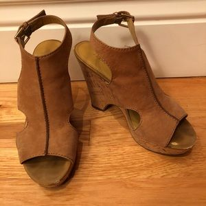 Franco Sarto Natural Glamour Platform Wedge Sandal